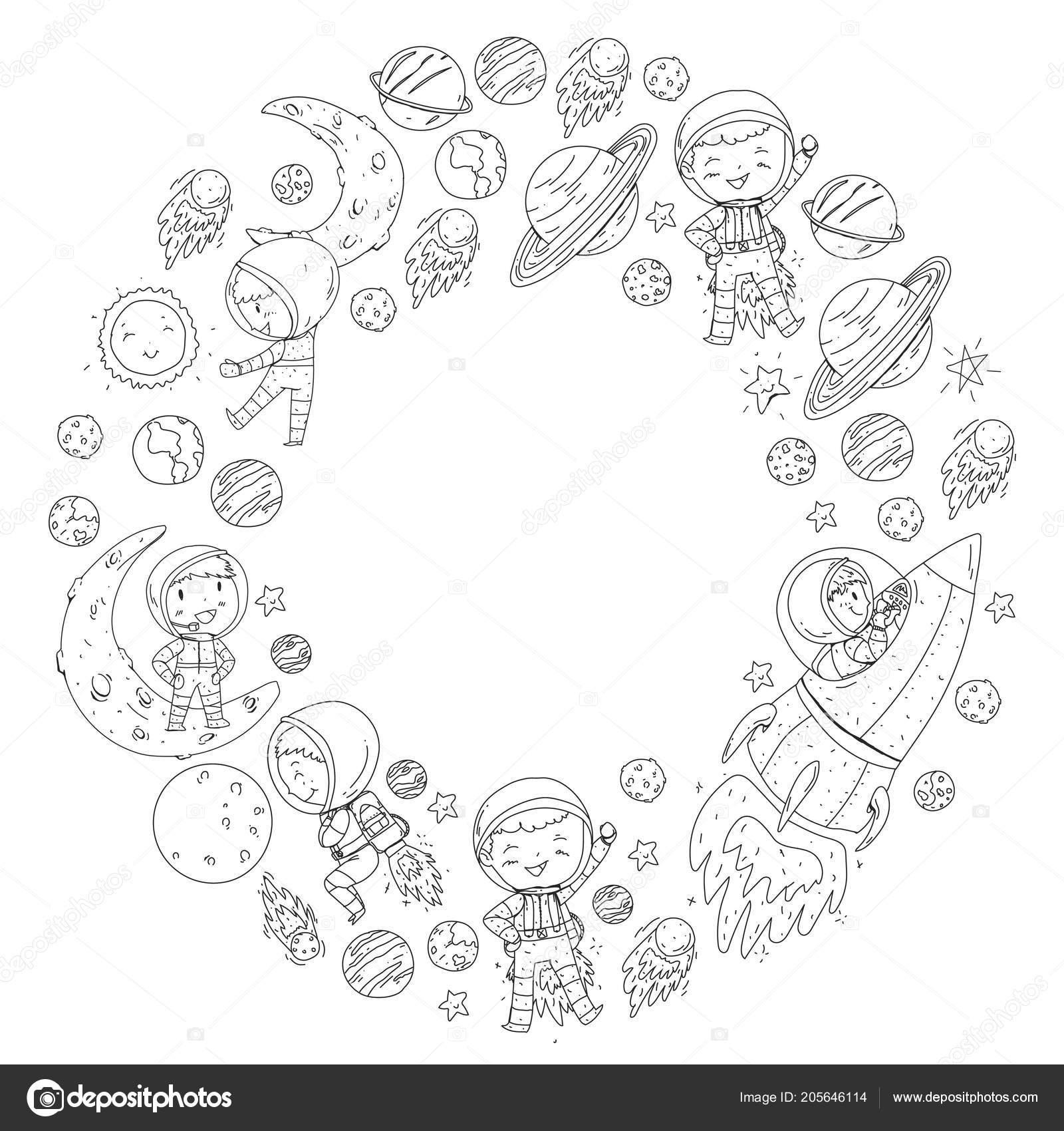 Kleurplaten Van Raketten.Ruimte Voor Kinderen Kleurplaat Boek Kinderen En Kosmos