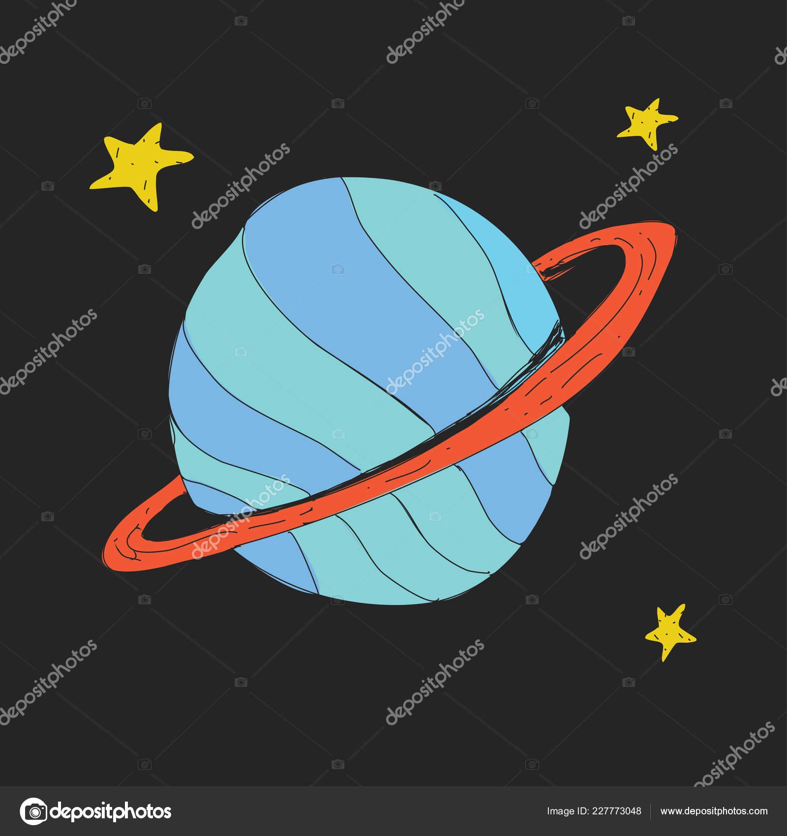 Icone De La Planete Du Dessin Anime Saturne Geante Gazeuse Et