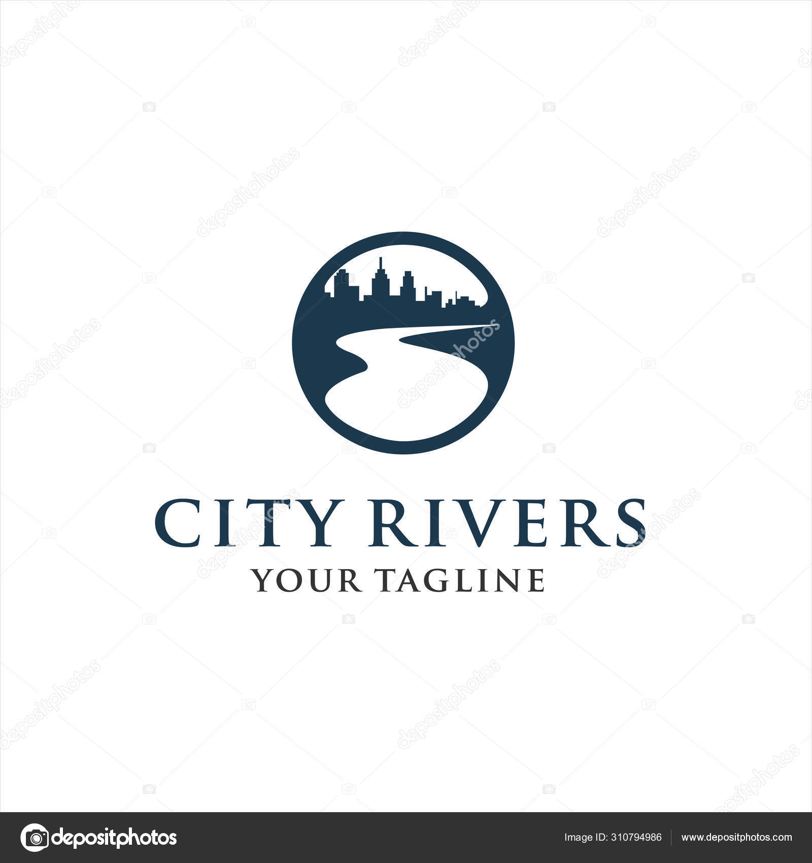 River City Logo Design Inspiration Stock Vector C Rycw 310794986