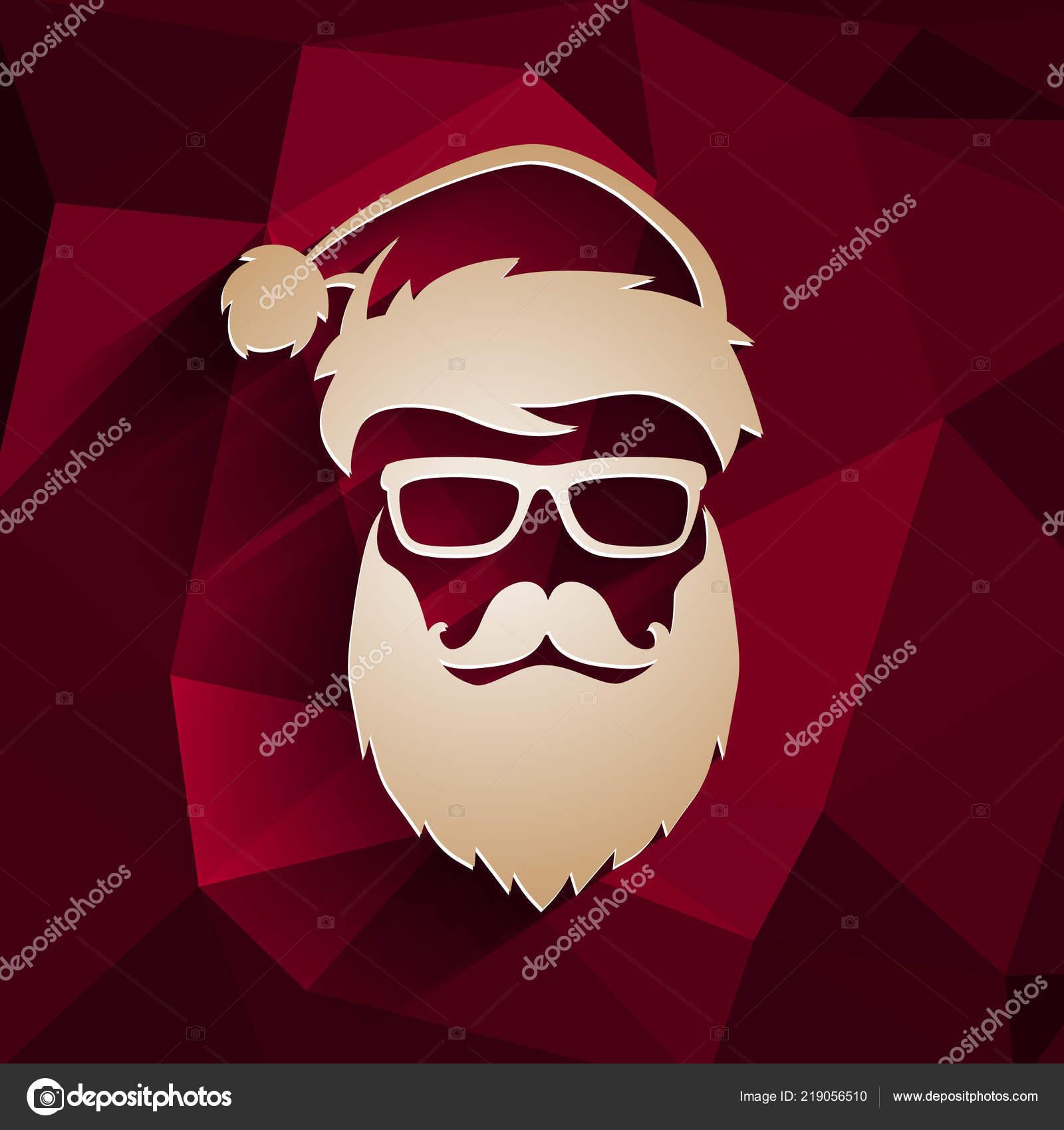 33e0e8bc26a Christmas vector hipster Santa Claus — Stock Vector © Antisana ...
