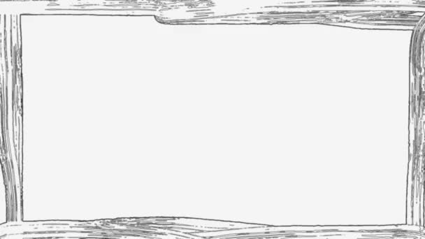 fekete keret doodle a elszigetelt fehér háttér