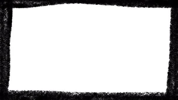 Černý rám doodle izolované na bílém pozadí