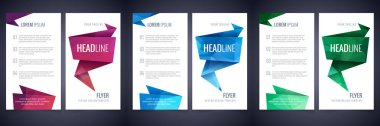 Triangle background layouts design template set