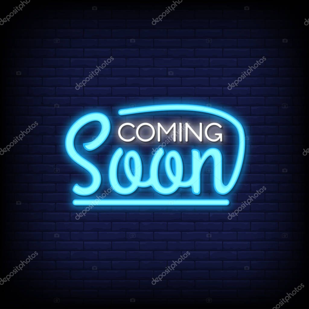 Coming Soon Neon Signs Coming Neon Sign Premium Vector In Adobe Illustrator Ai Ai Format Encapsulated Postscript Eps Eps Format