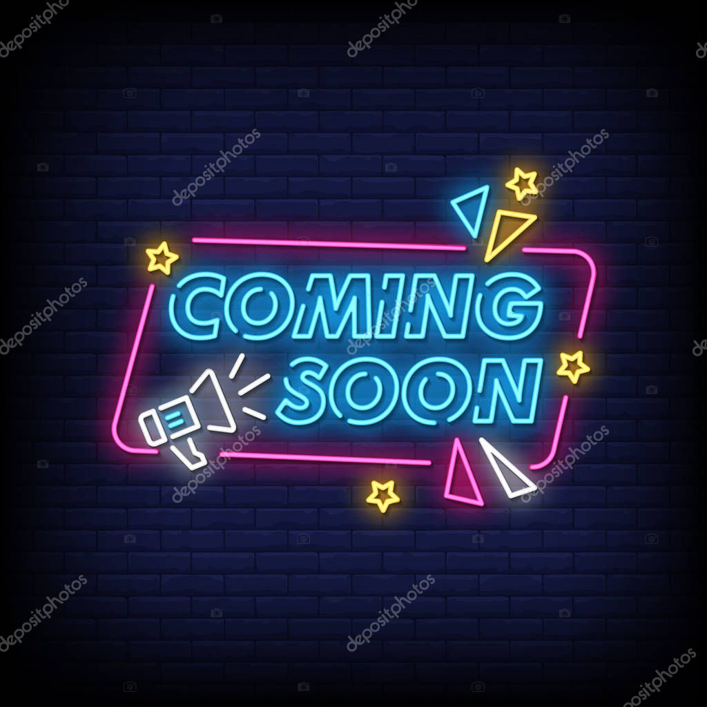 Coming Soon Neon Text Sign Vector Light Banner Poster Vector Illustration Premium Vector In Adobe Illustrator Ai Ai Format Encapsulated Postscript Eps Eps Format