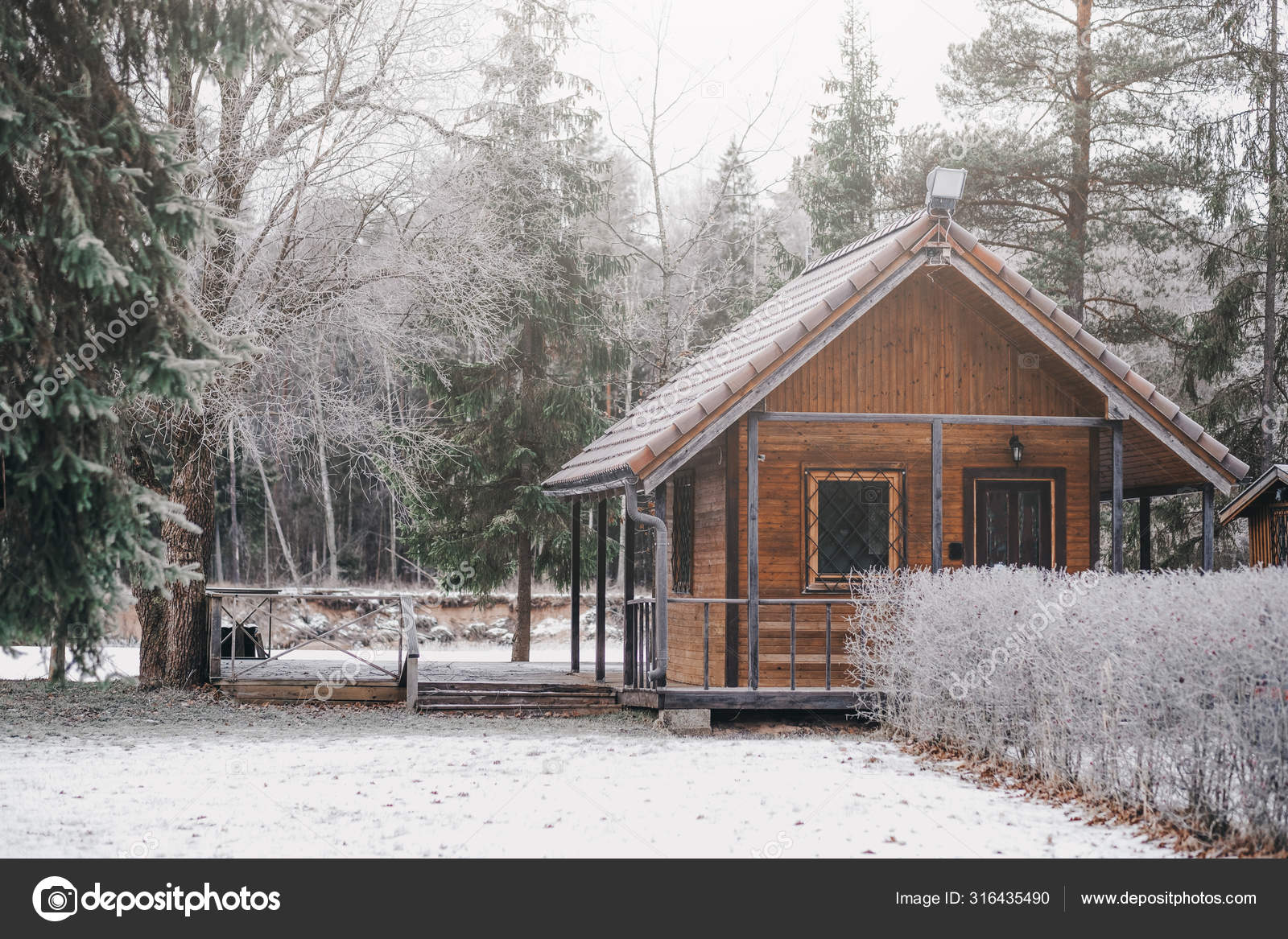 Small Wooden Camping House Forest Stock Photo C Aleksmfoto