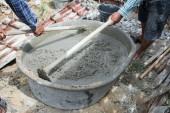 Fotografie Mischen einer Zementfabrik in rezeptpflichtig für die Anwendung der Bau