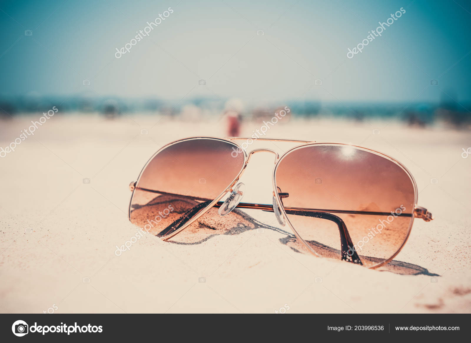 Época Nostalgia Efecto Foto Arena Filtro Playa Verano Gafas Sol EDIHY9W2