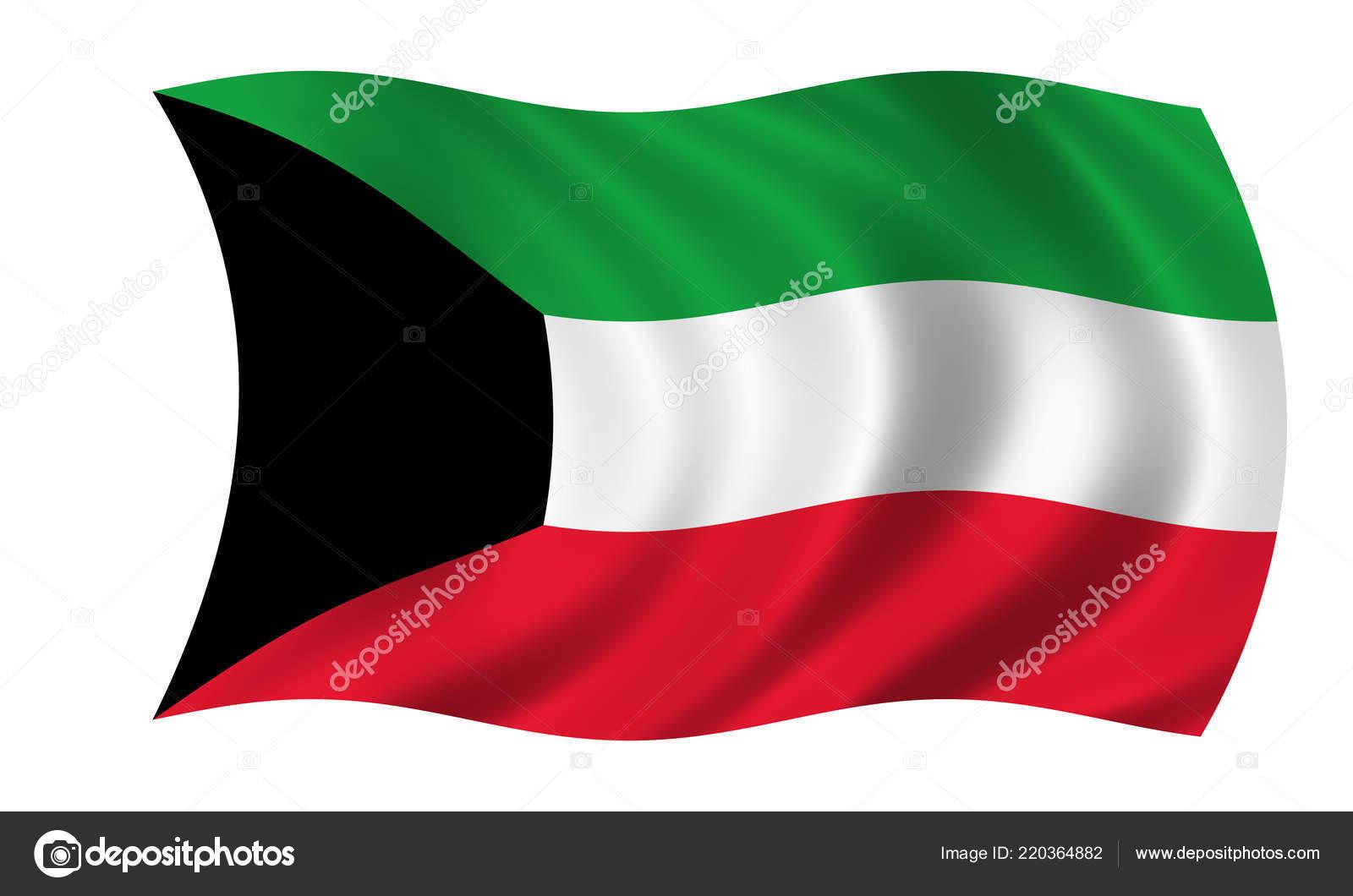Waving Kuwait Flag Wind Stock Photo C Imagerun 220364882