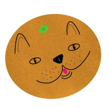 The cat is orange. Animal fruit. Funny illustration. Funny and cute animals