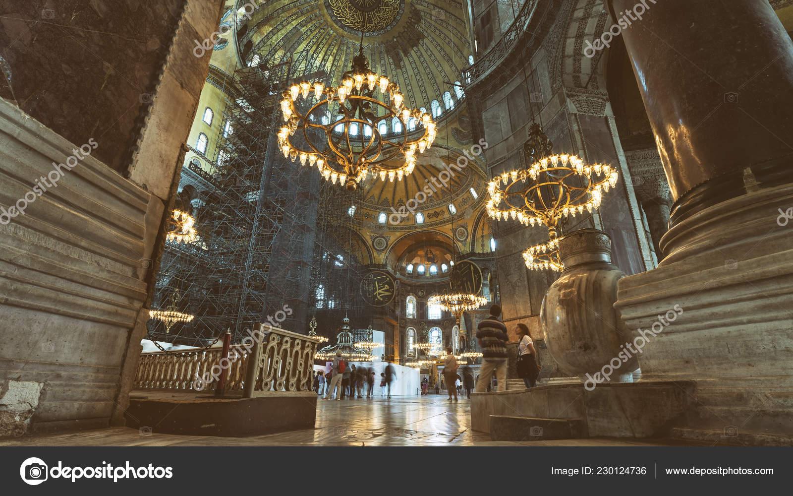 Istanbul Turkey May 2018 Interior Detail Hagia Sophia Greek