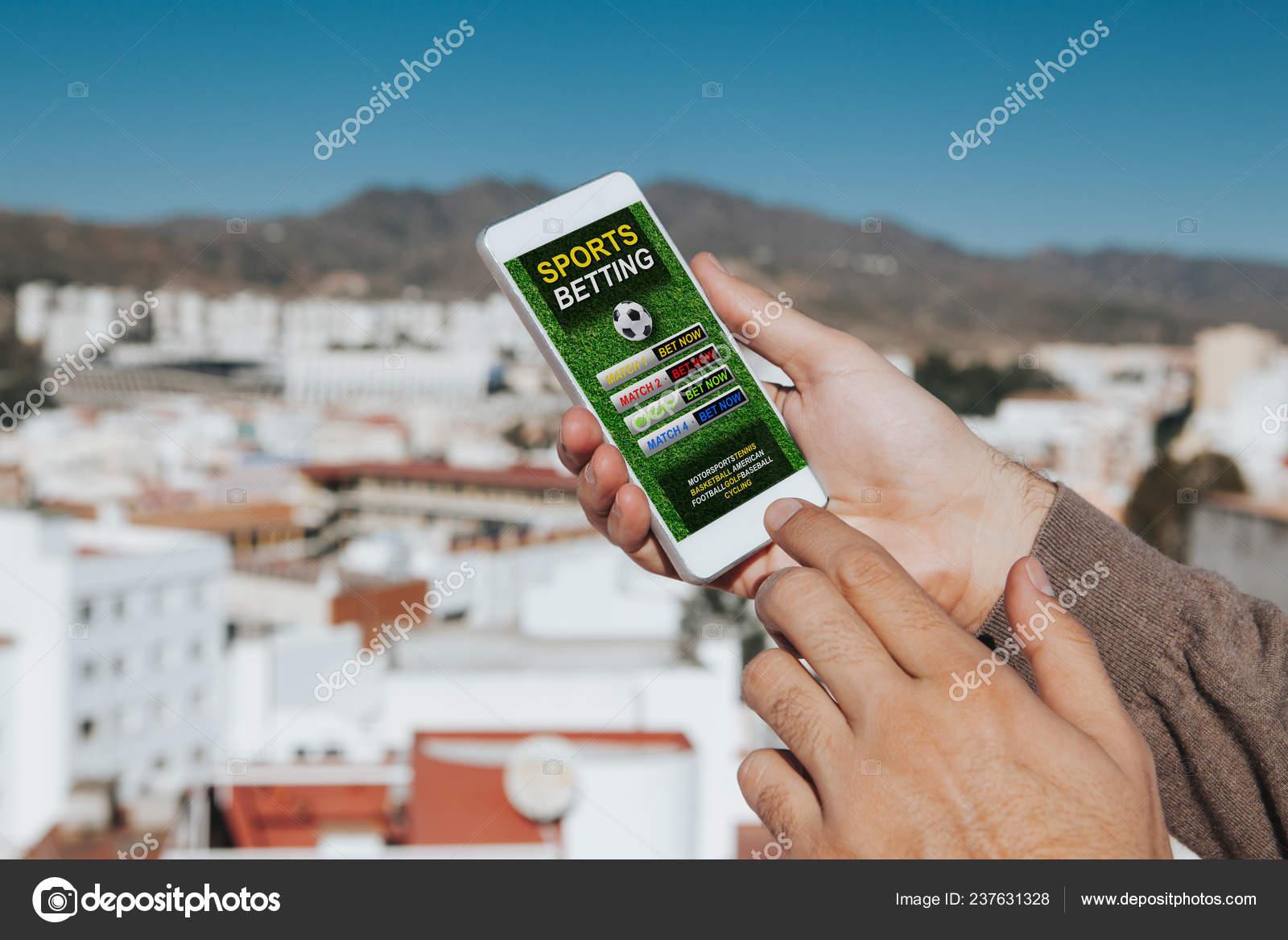 Sports Betting App Mobile Phone Screen — Stock Photo