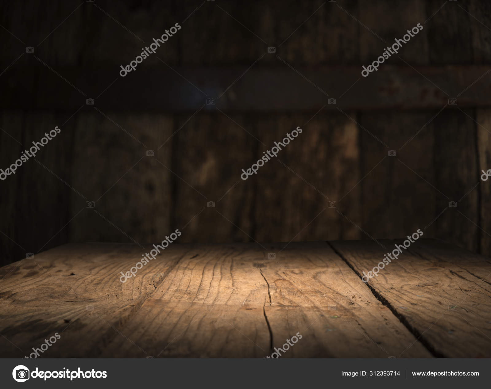 Empty Wood Table Top On Blur Light Gold Bokeh Of Cafe Restaurant In Dark Background Stock Photo C Kishivan 312393714