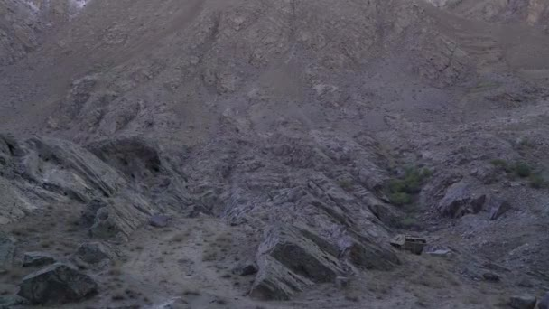 armored personnel carrier abandoned in the mountains on the border of Afghanistan