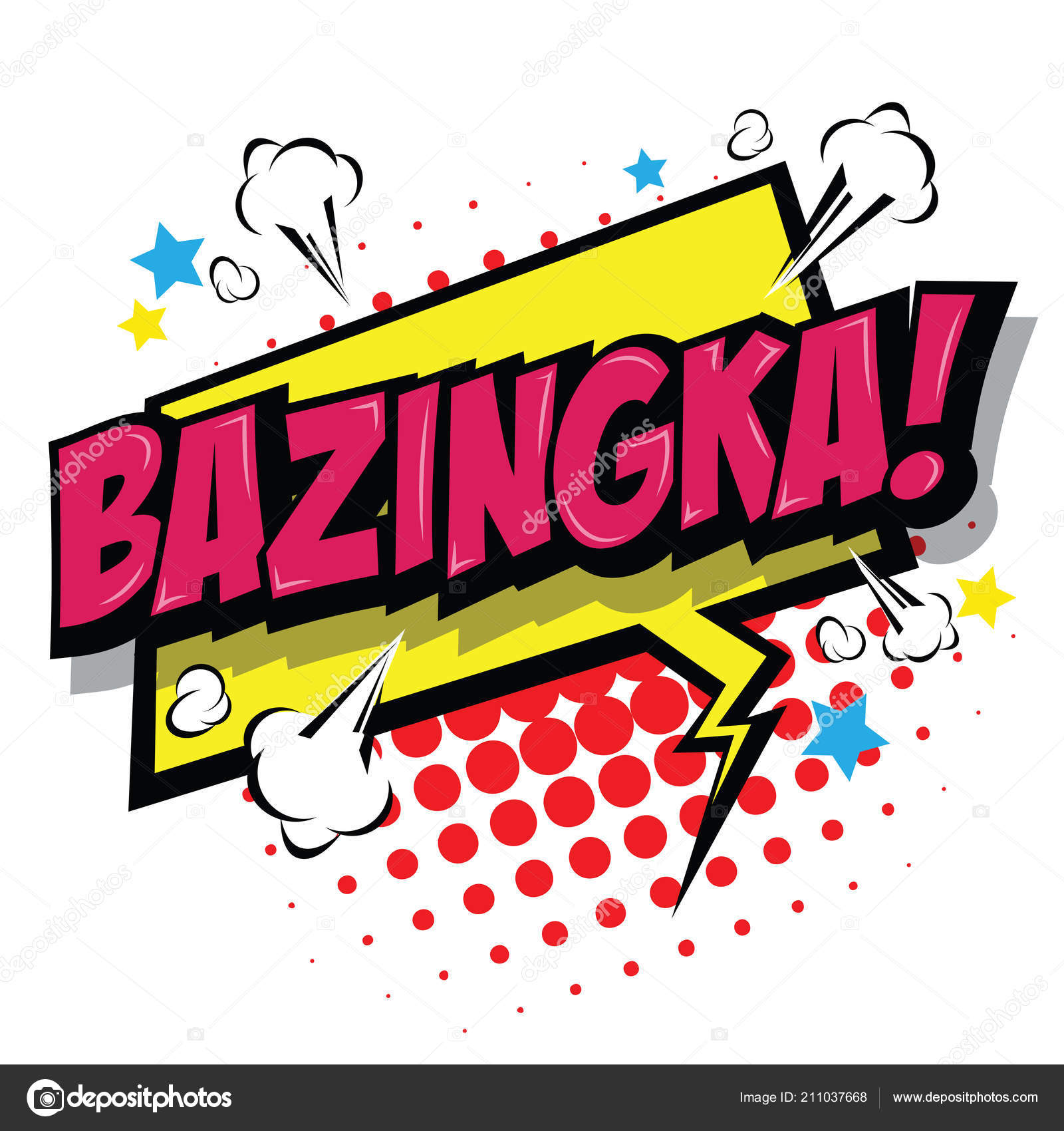 Bazinga comic speech bubble cartoon art illustration vector file.