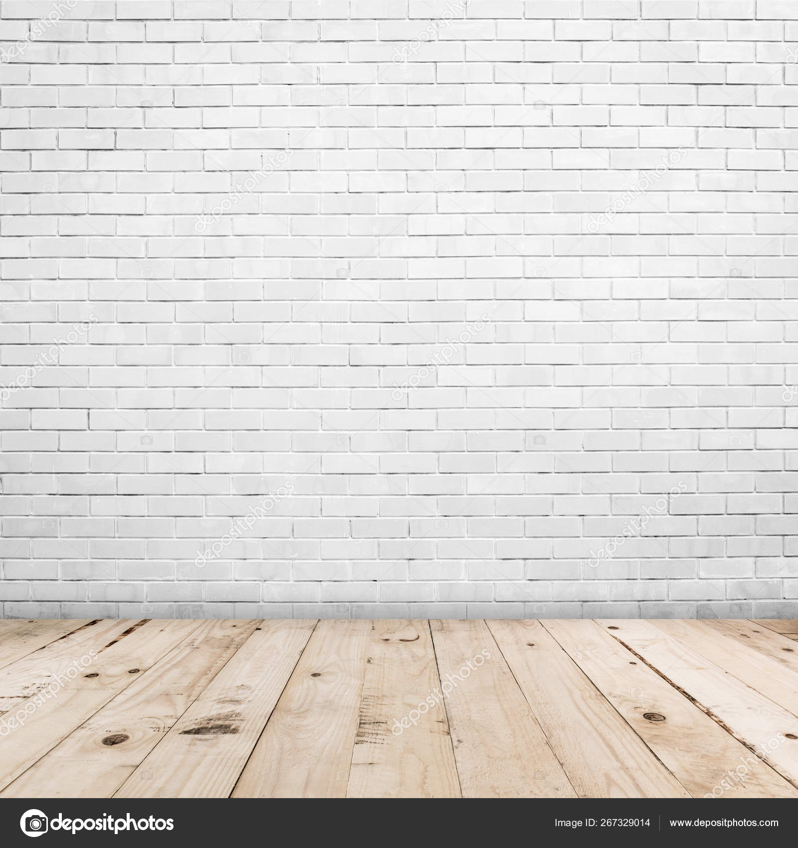Old White Brick Wall And Wood Floor Background And Texture With Stock Photo Image By Tortoon 267329014