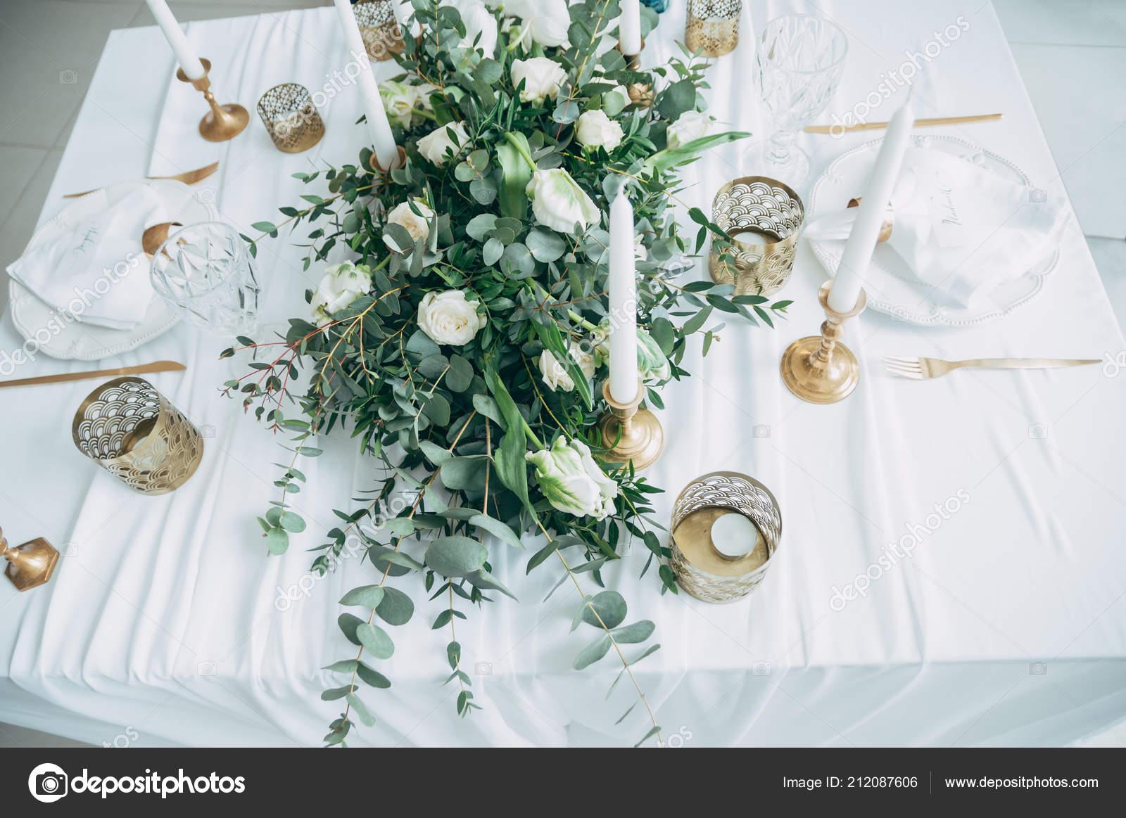 Hochzeit Dekoration Blumen Schwarz Und Gold Dekor Kerzen