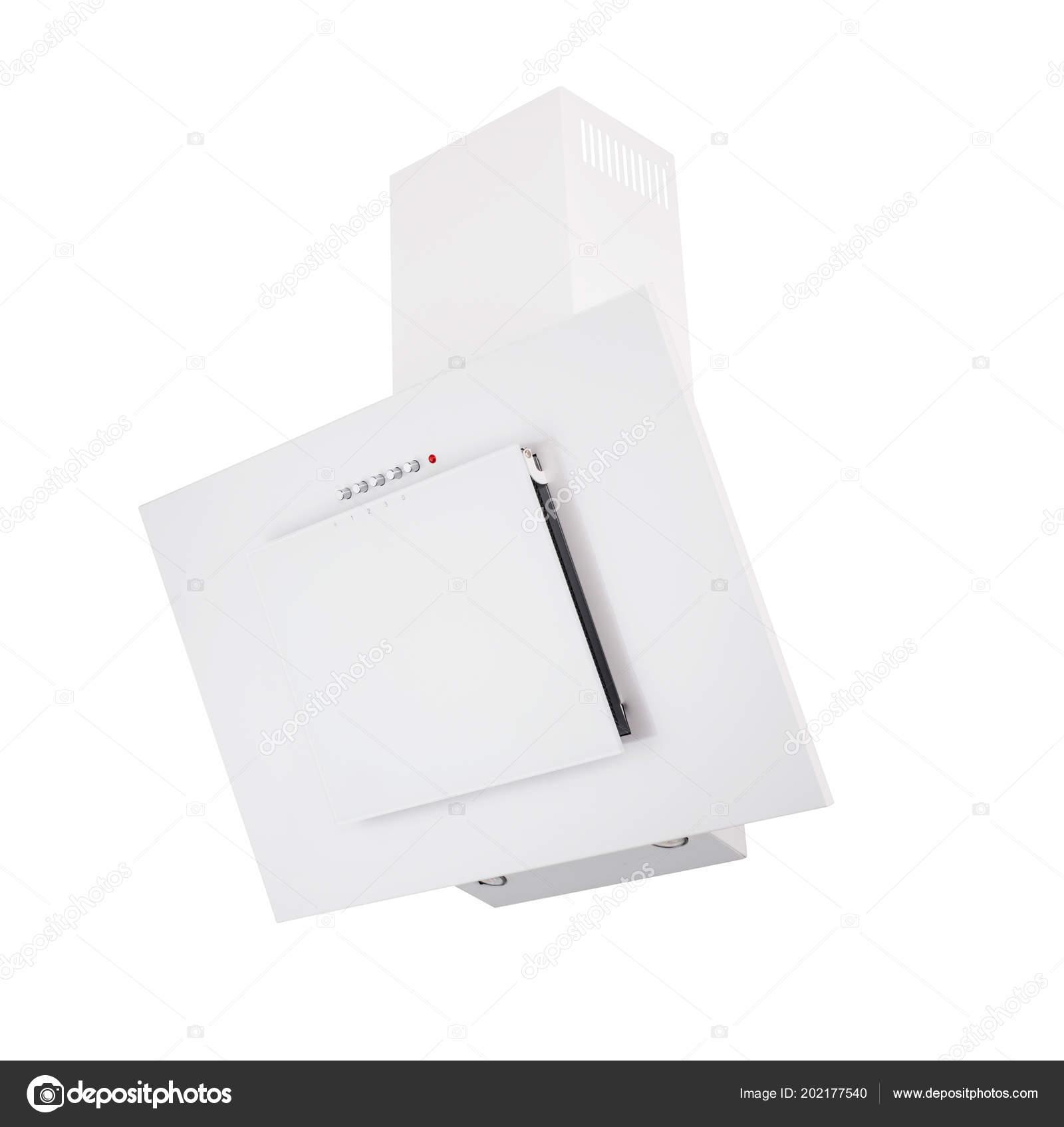 Cappa Cucina Bianca Moderna Isolato Bianco — Foto Stock © fotoatelie ...