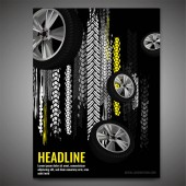 Fotografie Grunge Tire Poster