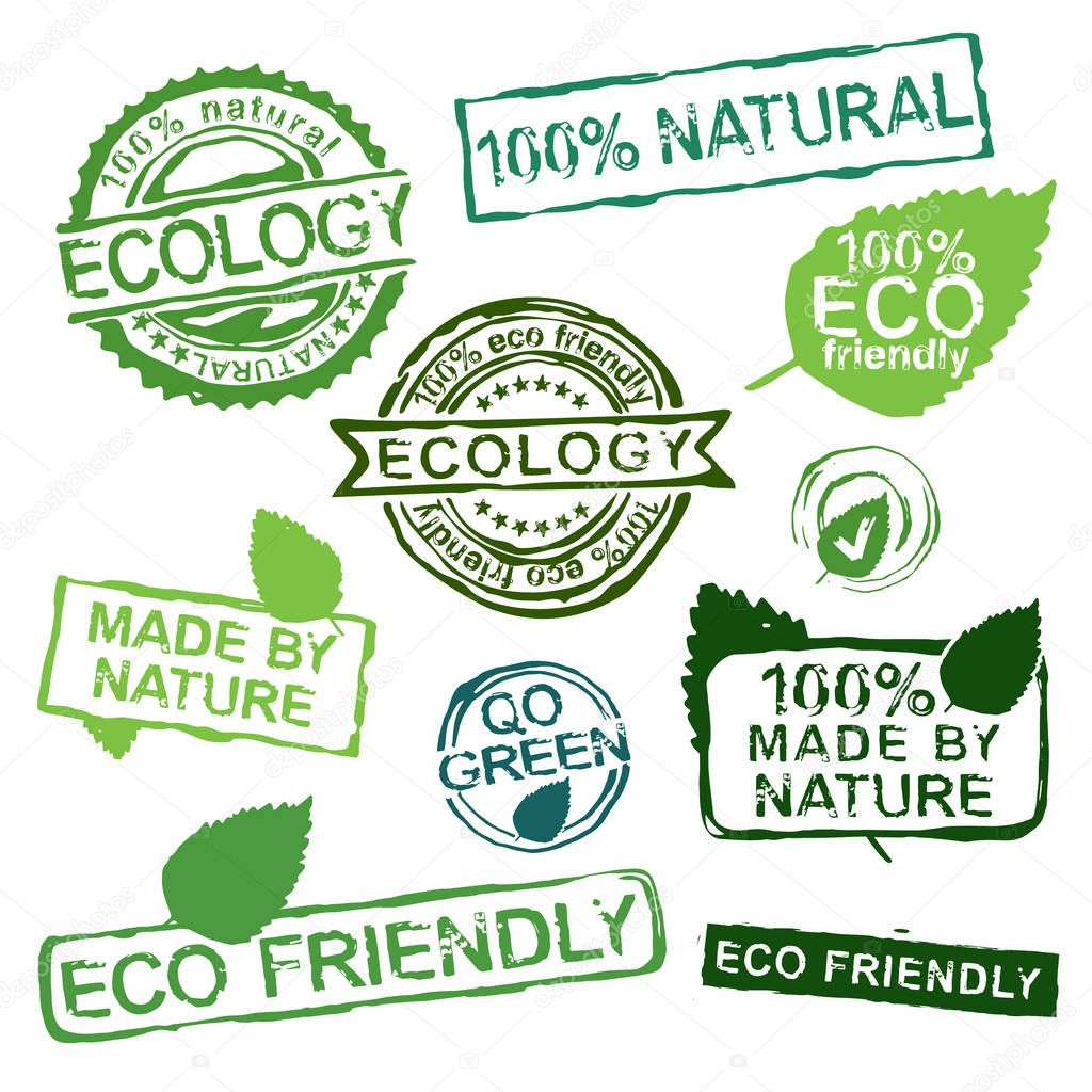 Ecology stamps set