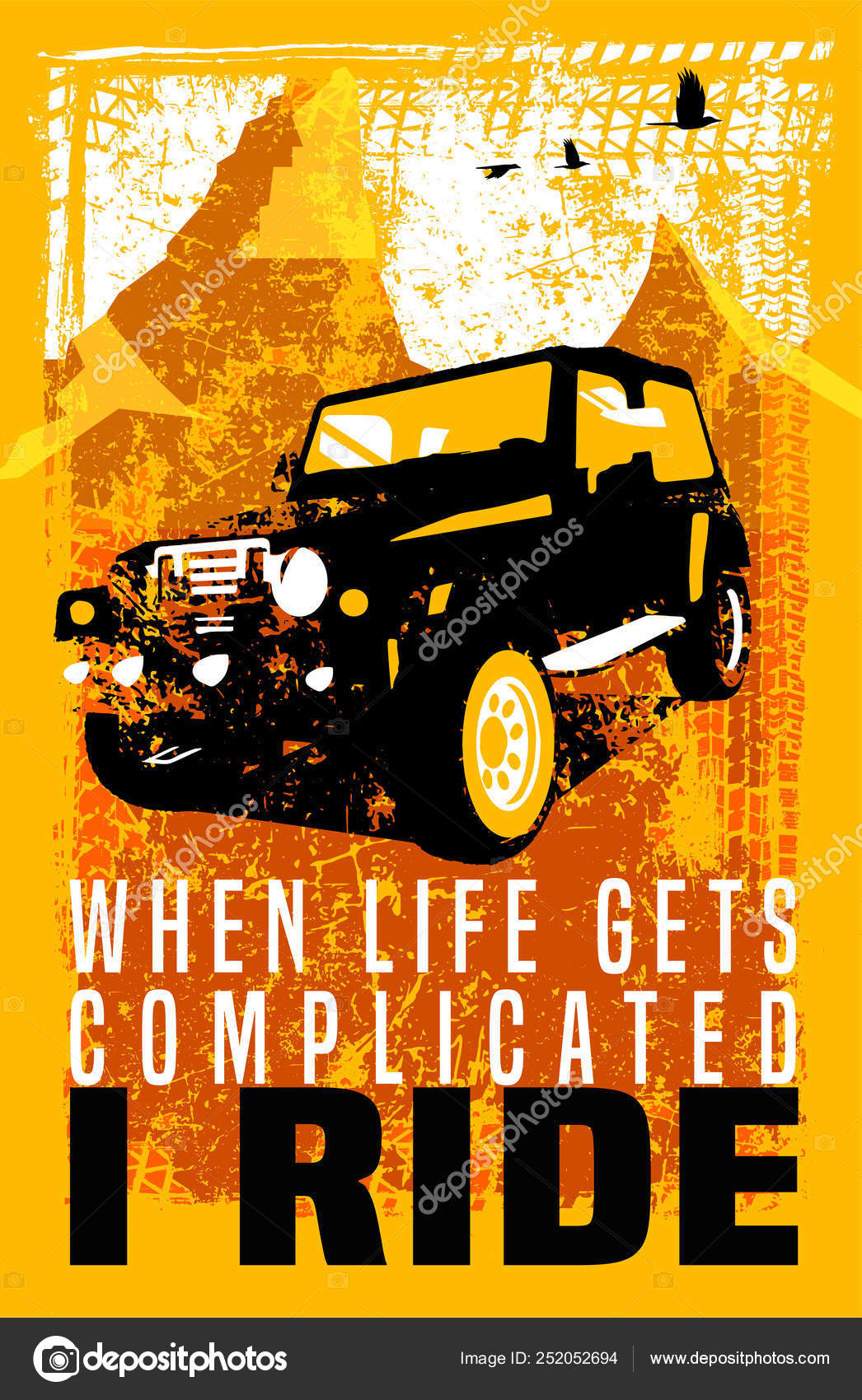 Offroad Car Poster Stockvektor Annyart 252052694