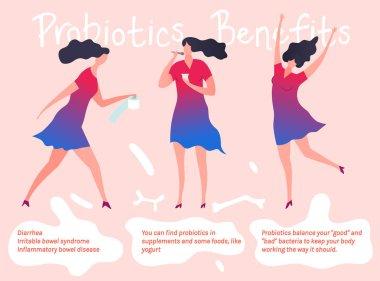 Woman Probiotics Poster