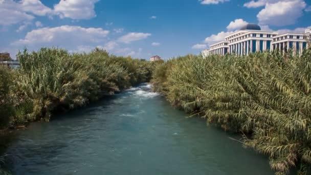 On the bridge, in front of the Duden waterfalls near Antalya. Turkey