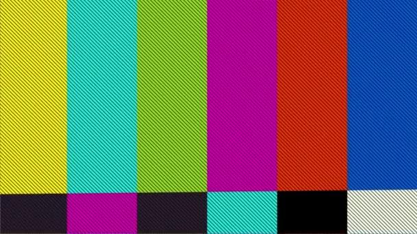 zkreslený televize bary signál. Chyba na testovací signál