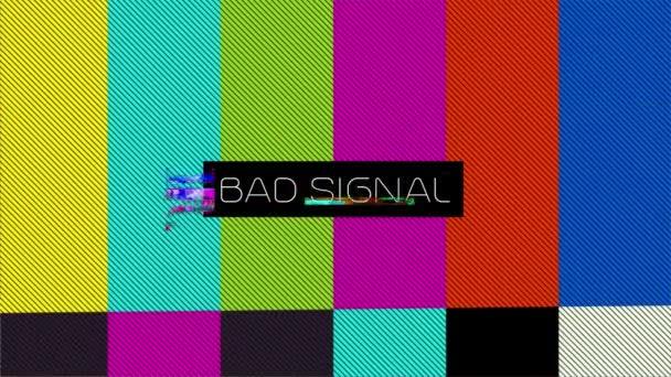 Rossz jel az analóg jel a TV-ben. image with Vcs signal interference.Egyedi tervezés Absztrakt digitális animáció Pixel Zajhiba Videó sérülés