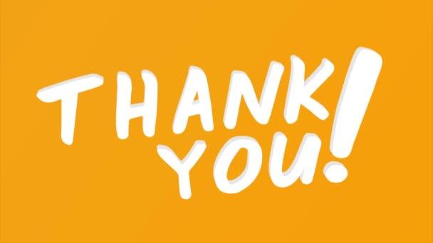 Danke 3D rendern Typografie Text auf Hintergrund. Tolle Möglichkeit, Danke zu sagen.
