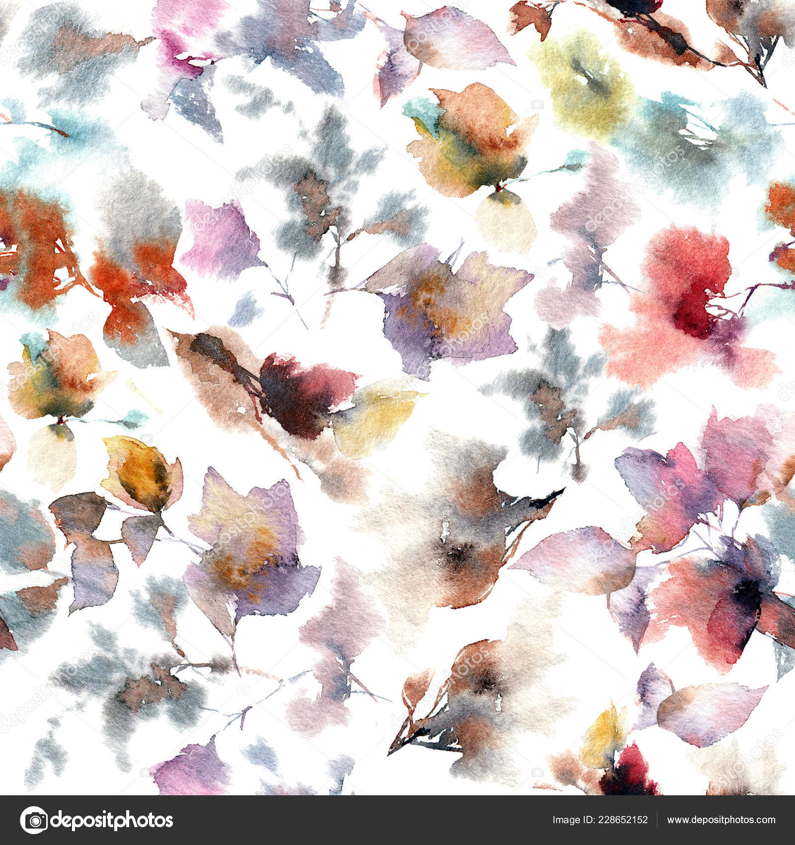 Hand Drawn Abstract Floral Wallpaper Stock Photo C Oaurea 228652152