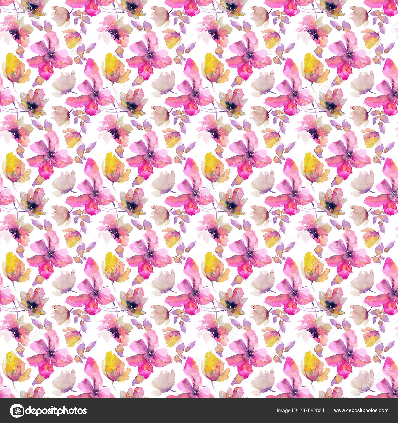 Hand Drawn Abstract Floral Wallpaper Stock Photo C Oaurea 237682834