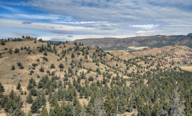 Magnificent views of extended prairie, rolling hills and vast canyons in the unspoiled beauty ot the Sutton Mountain Wilderness Study Area outside the rustic town of Mitchell, Oregon.