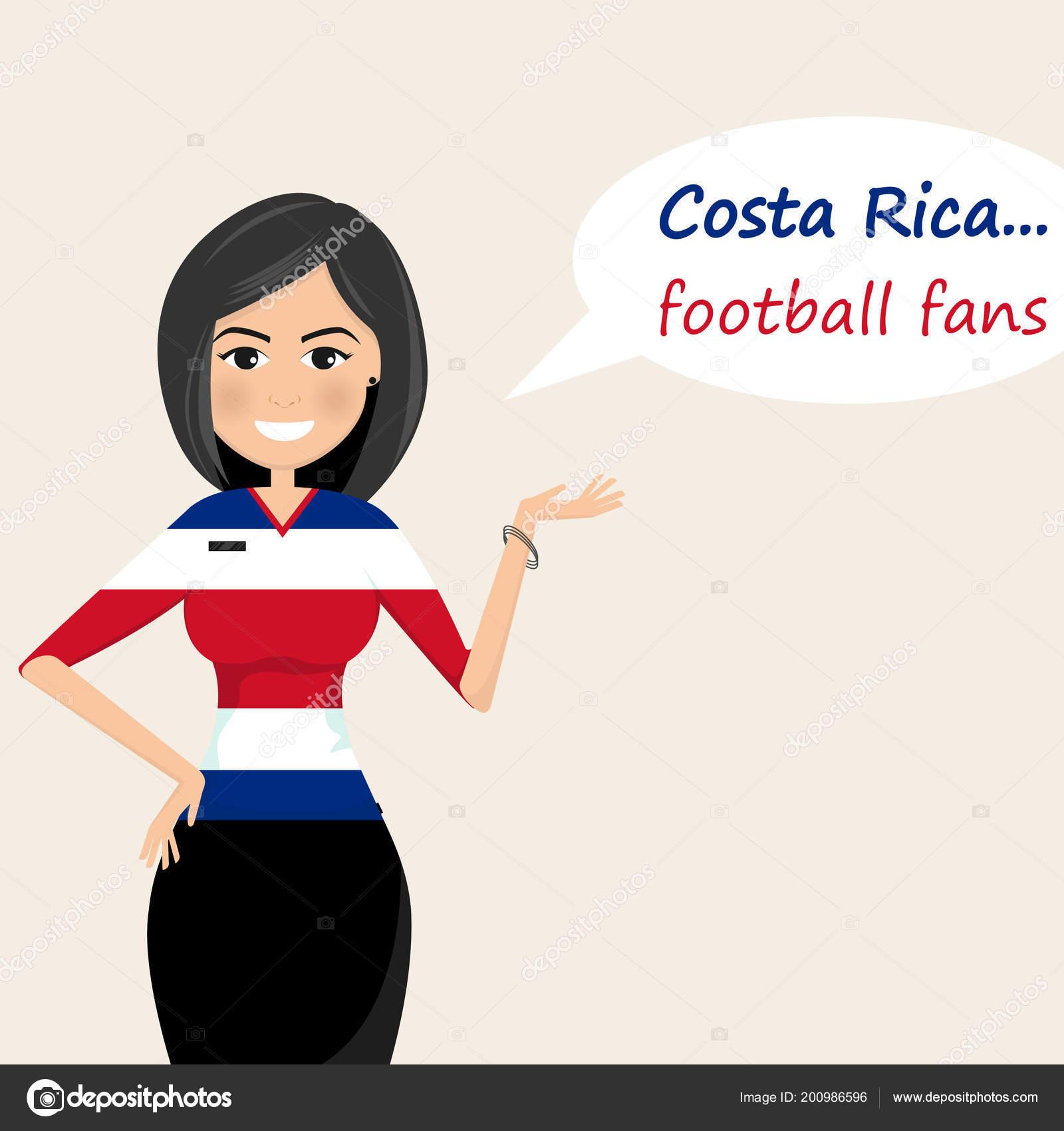 83389837b36b9 Fanáticos Del Fútbol Costa Rica Fanáticos Del Fútbol Alegre Imágenes —  Vector de stock