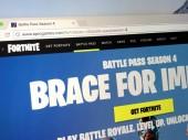 Amsterdam, Niederlande - 9. Mai 2018: Offizielle Homepage der Fortnite Staffel 4, eine Produktion von Epic Games. Epic Games, Inc. ist ein US-amerikanischer Videospiel und Software Entwicklungsgesellschaft.