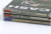 Amsterdam, Niederlande - 8. Februar 2019: Compact Disc (Cd)-Alben aus US-amerikanischer Singer-Songwriter und Gitarrist Johnny Cash.
