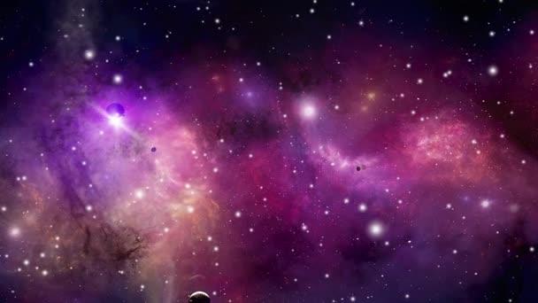Vesmírná mlhovina noční hvězdná obloha v duhových barvách. Vícebarevný vesmír. Hvězdné pole a mlhovina v hlubokém vesmíru mnoho světelných let daleko od planety Země