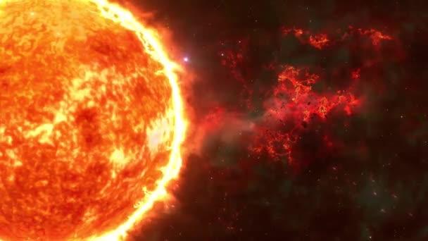 Sun 4k, Sun Solar Atmosphere elszigetelt zöld háttér, Közelkép a nap ellen zöld képernyő, 4K 3D Sun forgó hurok zöld képernyő háttér