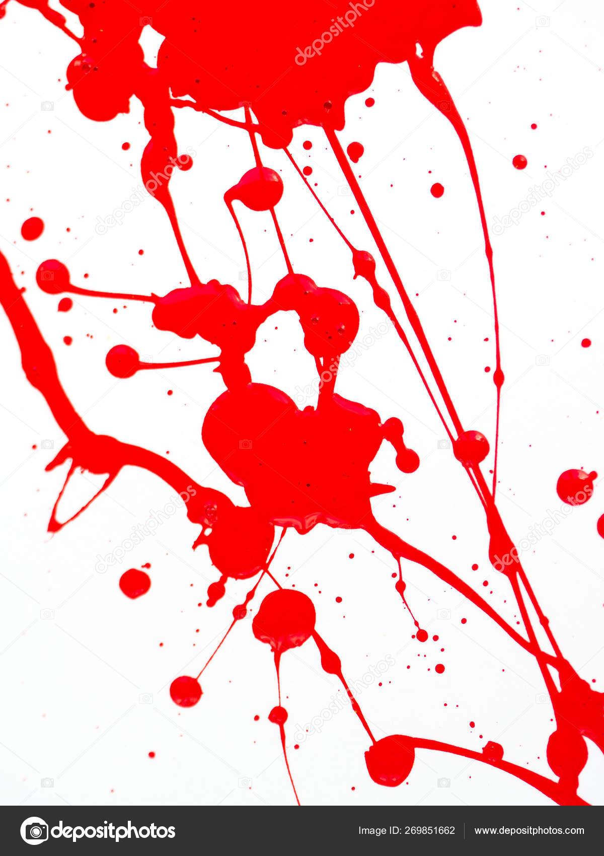 Peinture Rouge Gouttes Et Eclaboussures Sur Fond Blanc Photographie Allexander C 269851662