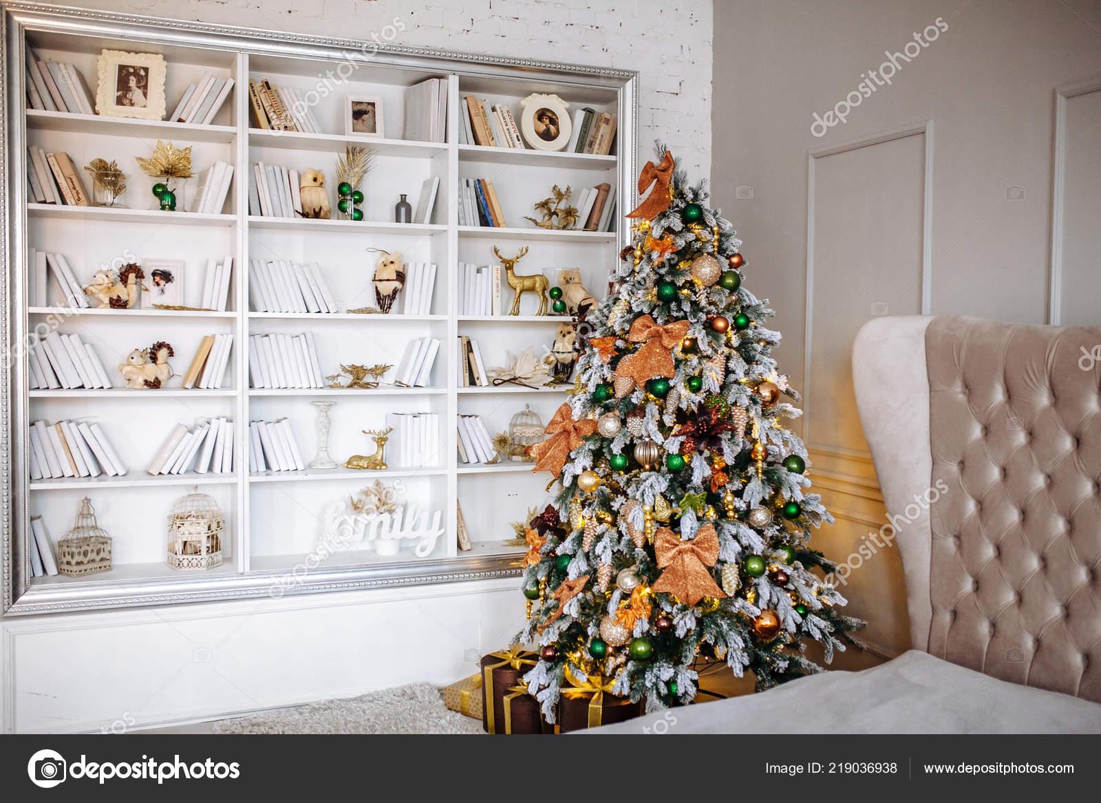 Camera Letto Decorata Natale Interno Casa Accogliente Decorazione