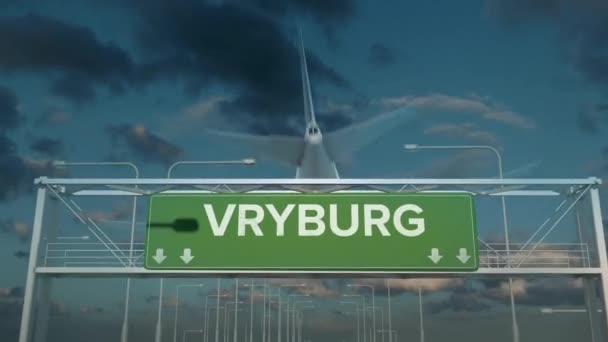 the plane landing in Vryburg south africa