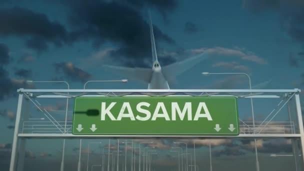 letadlo přistávající v Kasama zambia