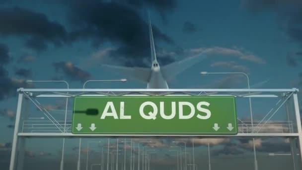 the plane landing in Al quds west bank