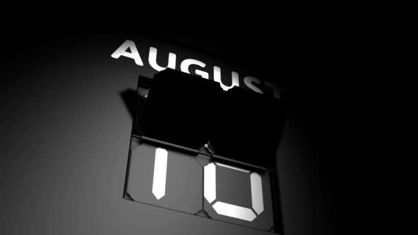 Augusztus 19. digitális naptár változás augusztus 19 animáció