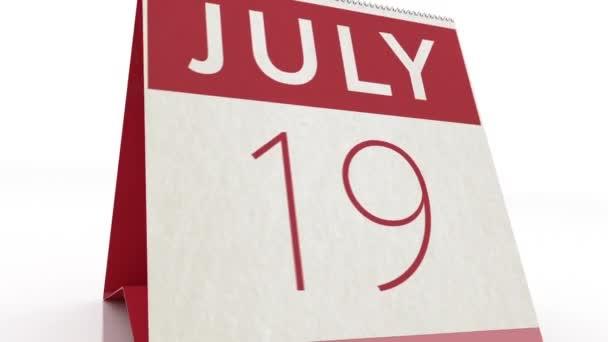 20. Juli. Kalenderwechsel zum 20. Juli