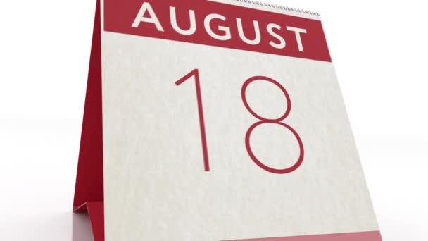 Augusztus 19. naptár változás augusztus 19 animáció