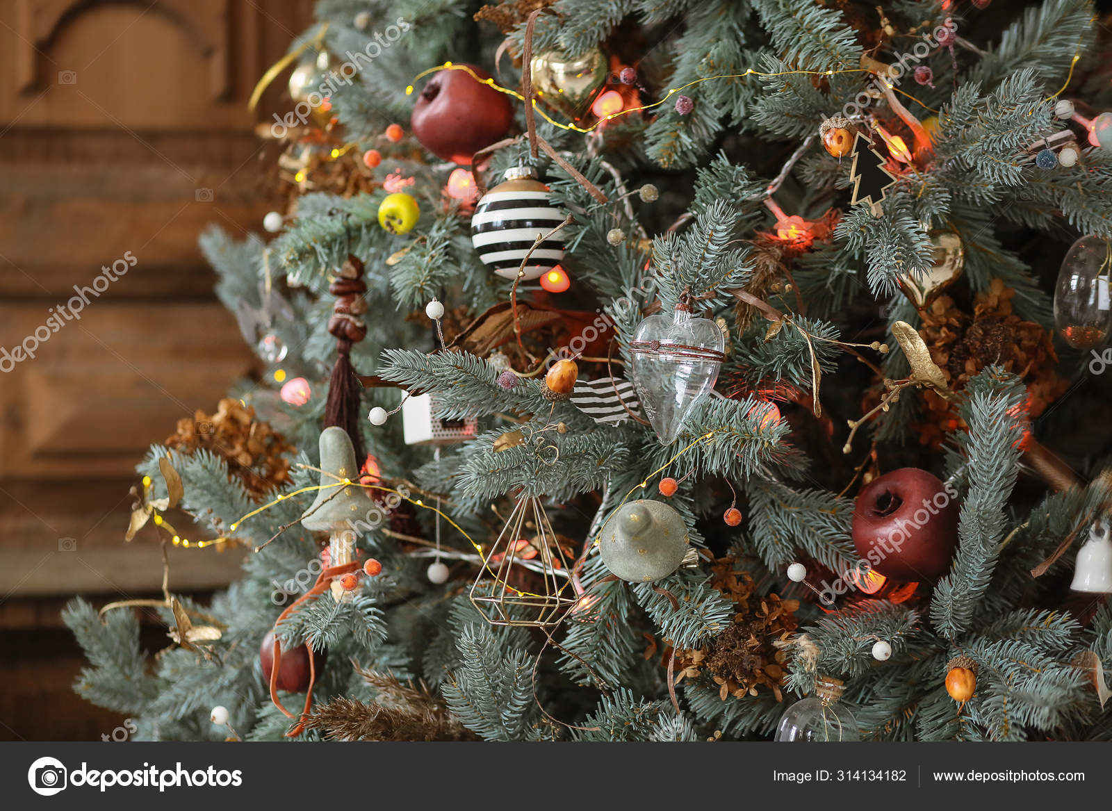Blue Christmas Tree Decorations Stock Photo Image By C Angelinalubin 314134182