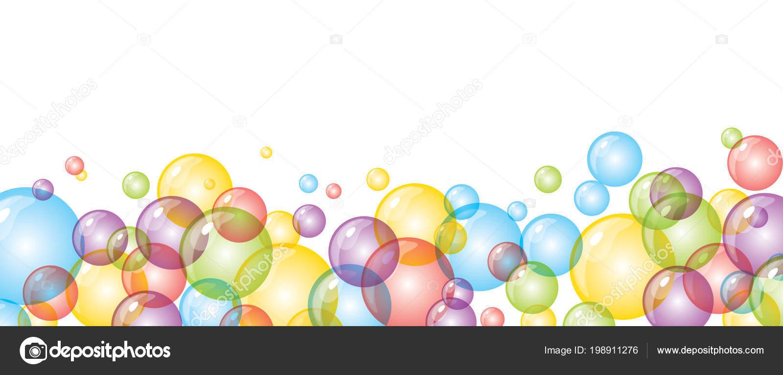 Fondo Con Burbujas Colores