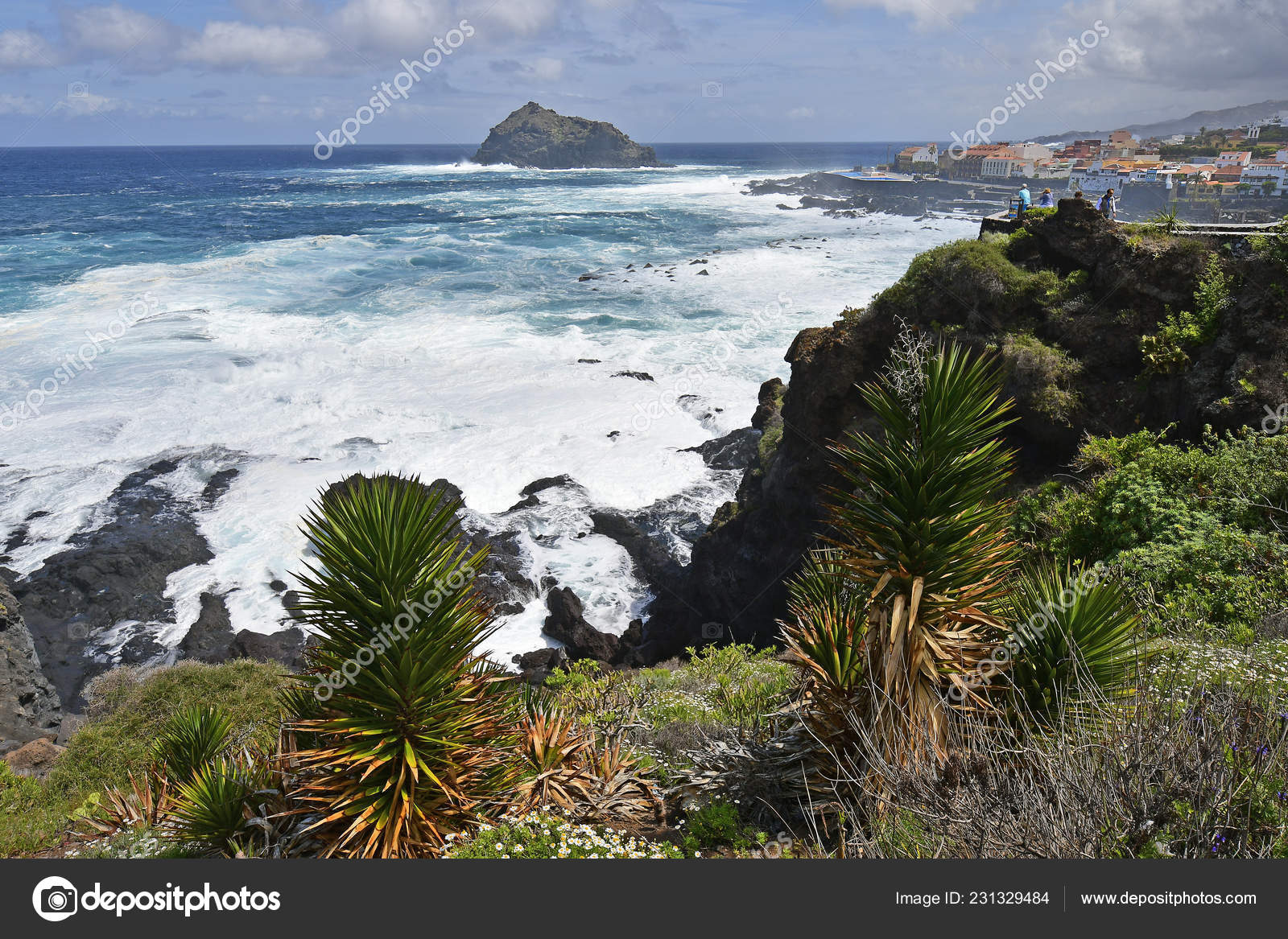 Teneriffa Kanarieöarna Spanien April 2018 Oidentifierade Personer