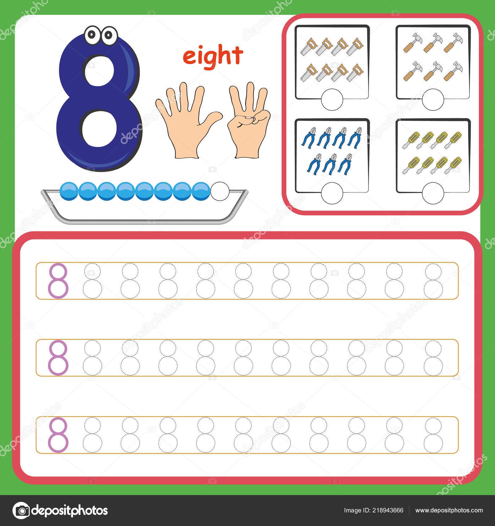 Anzahl Karten Zählen Und Zahlen Schreiben Lernen Zahlen Zahlen